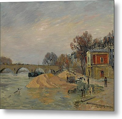 Gustave Loiseau 1865 - 1935 Marie Bridge In Paris Metal Print