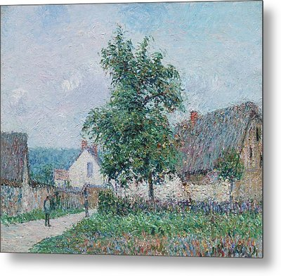 Gustave Loiseau 1865 - 1935 Small Farm In Vaudreuil, Time Gray Metal Print