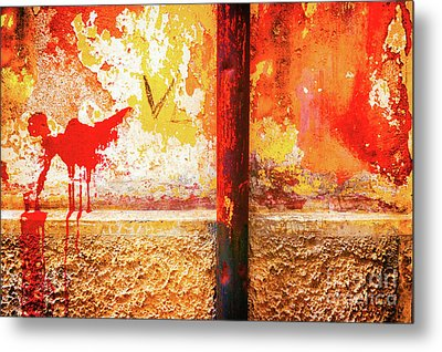 Metal Print featuring the photograph Gutter And Decayed Wall by Silvia Ganora