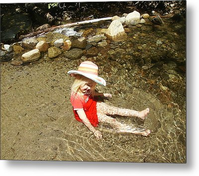 Metal Print featuring the photograph Gwenyn At Galena Creek On Mt Rose by Dan Whittemore
