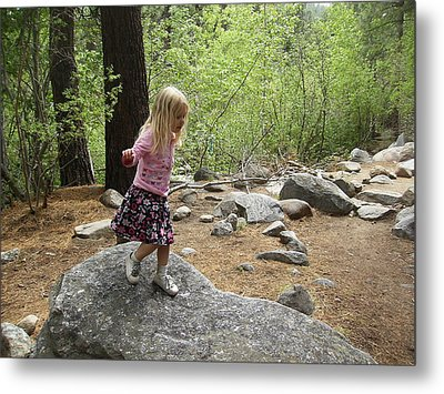 Metal Print featuring the photograph Gwenyn On Mt. Rose by Dan Whittemore