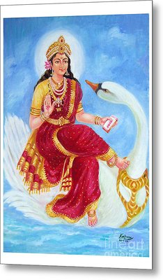 Gyatri Devi Metal Print by Kalpana Talpade Ranadive