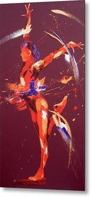 Gymnast Eight Metal Print by Penny Warden