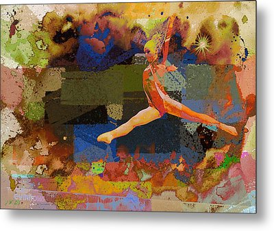 Gymnast Girl Metal Print