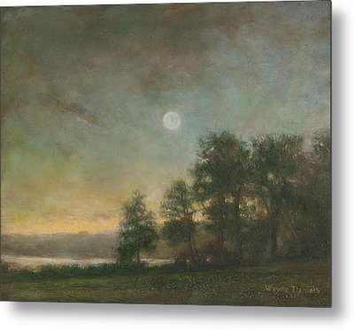Metal Print featuring the painting Gypsy Bay Moonlight by Wayne Daniels