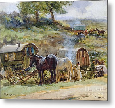 Gypsy Encampment Metal Print