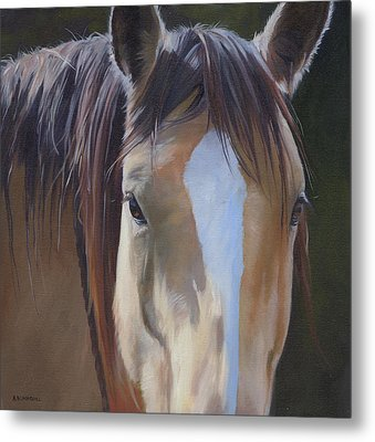 Metal Print featuring the painting Gypsy Eyes by Alecia Underhill