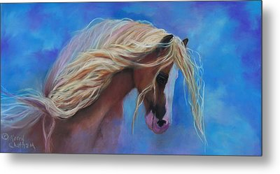 Metal Print featuring the pastel Gypsy In The Wind by Karen Kennedy Chatham