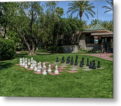 Metal Print featuring the photograph H D R Chess At The Biltmore by Aimee L Maher Photography and Art Visit ALMGallerydotcom