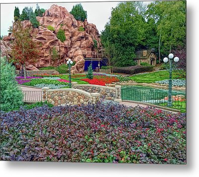 Metal Print featuring the photograph H D R Flower Garden Walkway by Aimee L Maher Photography and Art Visit ALMGallerydotcom