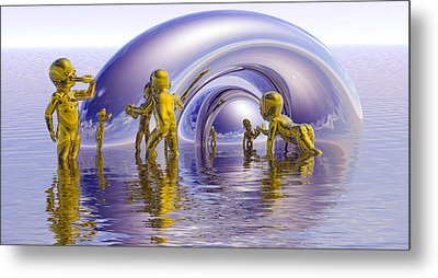 H2O Metal Print by Robby Donaghey