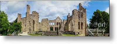 Ha Ha Tonka Castle Panorama Metal Print by Jennifer White