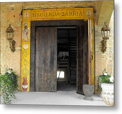 Hacienda Sarria Metal Print by David and Lynn Keller