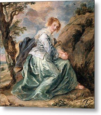 Hagar In The Desert Metal Print by Peter Paul Rubens