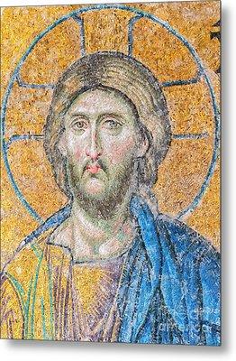 Hagia Sofia Jesus Mosaic Digital Painting Metal Print