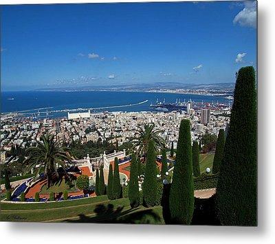 Haifa Bay 2 Metal Print by Arik Baltinester
