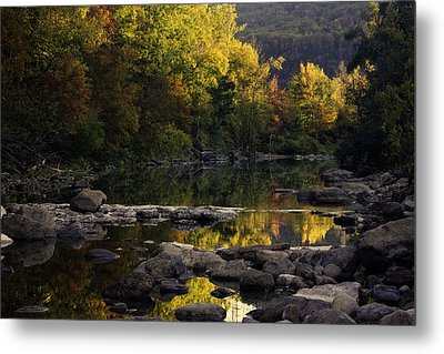 Hailstone Sunrise Fall Color 2012 Metal Print by Michael Dougherty