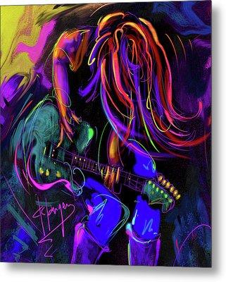 Hair Guitar 2 Metal Print