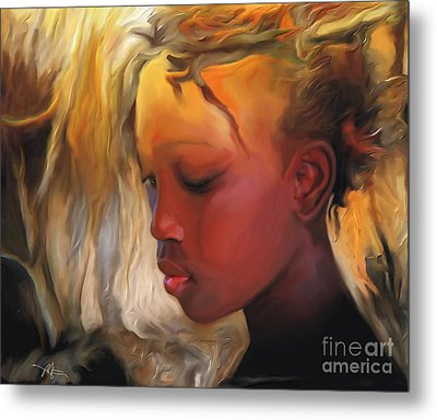 Haitian Beauty Metal Print