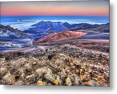 Metal Print featuring the photograph Haleakala Crater Sunset Maui II by Shawn Everhart