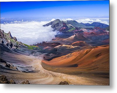 Haleakala Craters Maui Metal Print by Janis Knight