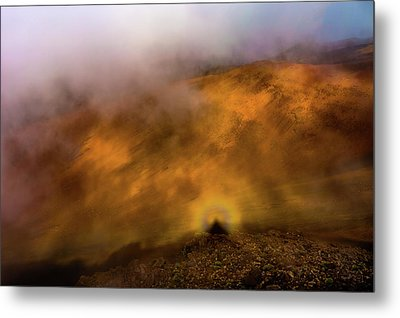 Metal Print featuring the photograph Haleakala Halo by M G Whittingham