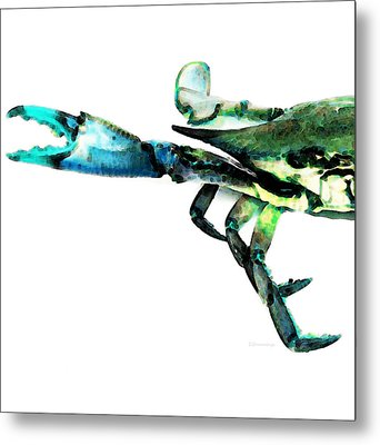 Half Crab - The Left Side Metal Print by Sharon Cummings