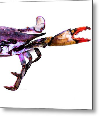 Half Crab - The Right Side Metal Print
