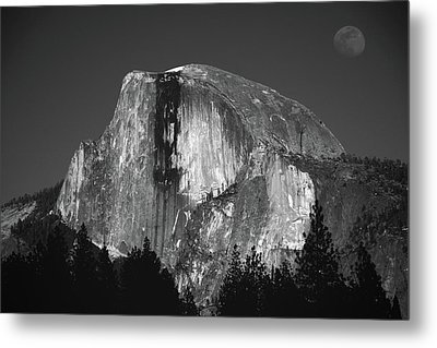 Half Dome Moonrise Metal Print by Raymond Salani III