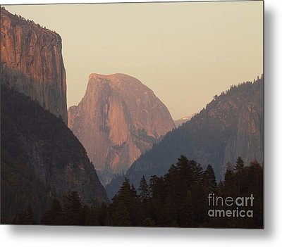 Half Dome Rising In Distance Metal Print by Max Allen