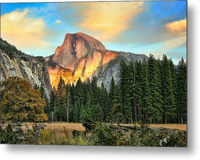 Half Dome Sunset Metal Print by Chuck Kuhn