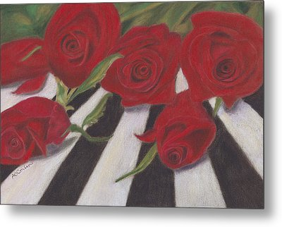 Metal Print featuring the painting Half Dozen Red by Arlene Crafton