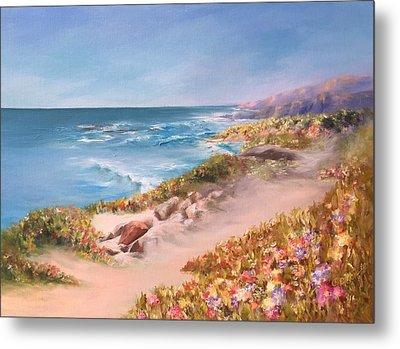 Half Moon Bay, Spring Blossoms Metal Print by Donna Pierce-Clark