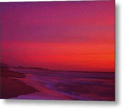 Half Moon Bay Sunset Metal Print by Vicky Brago-Mitchell