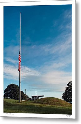 Metal Print featuring the photograph Half Staff by Richard Bean