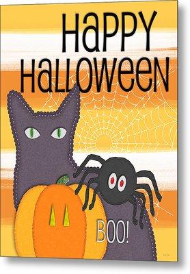Halloween Friends- Art By Linda Woods Metal Print