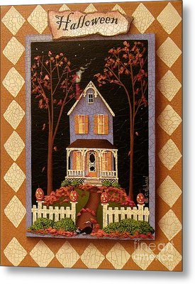 Halloween Hill Metal Print by Catherine Holman