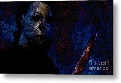 Halloween Michael Myers Signed Prints Available At Laartwork.com Coupon Code Kodak Metal Print by Leon Jimenez