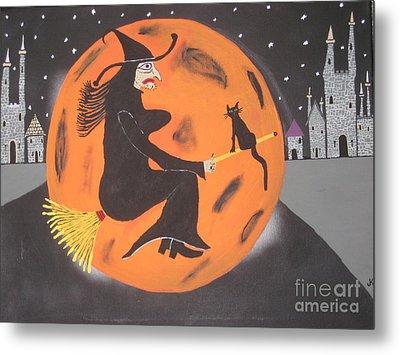 Metal Print featuring the painting Halloween Night At Disneyland by Jeffrey Koss