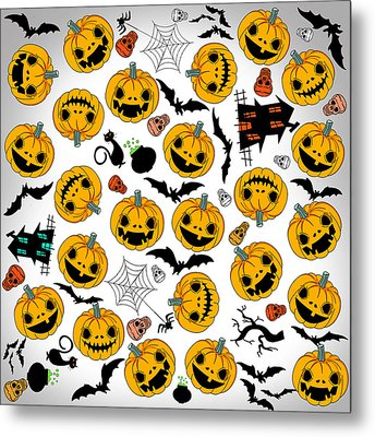 Halloween Party  Metal Print by Mark Ashkenazi