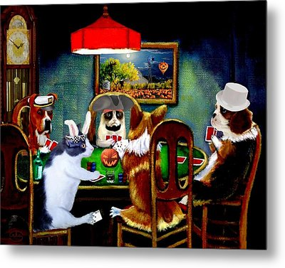 Halloween Poker Metal Print
