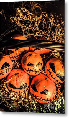 Halloween Pumpkin Head Gathering Metal Print by Jorgo Photography - Wall Art Gallery
