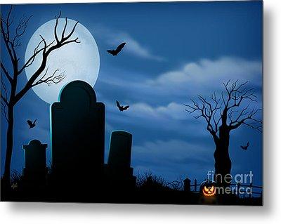 Halloween Spooks Metal Print