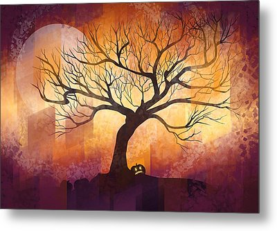 Halloween Tree Metal Print by Thubakabra