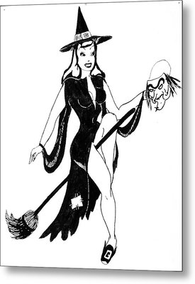 Halloween Witch  Metal Print by Beverly Solomon Design