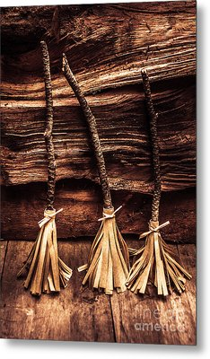 Halloween Witch Brooms Metal Print by Jorgo Photography - Wall Art Gallery