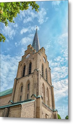 Metal Print featuring the photograph Halmstad Church In Sweden by Antony McAulay