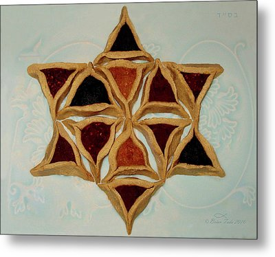 Hamantaschen Star Of David Metal Print by Brian Tada