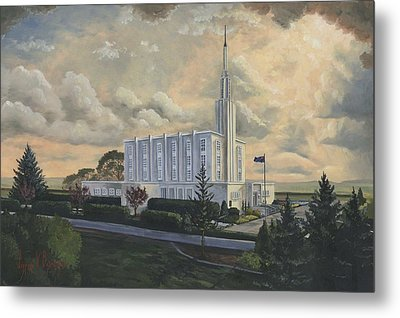 Hamilton New Zealand Temple Metal Print by Jeff Brimley