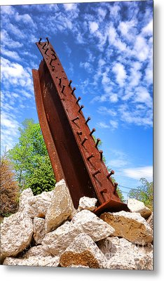 September 11 Memorial Metal Print by Olivier Le Queinec
